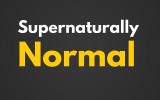 A Supernatural Normal